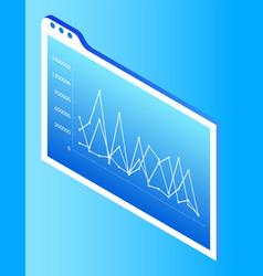screen smart desk with presenter visual data vector image