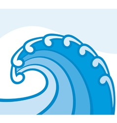 Sea wave vector