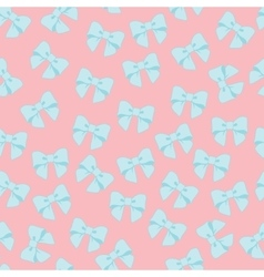 Seamless pattern with pastel bows on a vector image