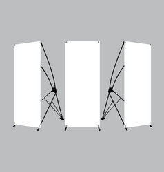 set blank x-stand banners display vector image