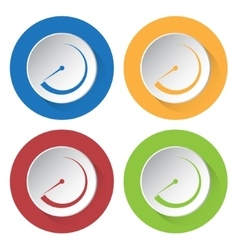 set of four icons - dial symbol vector image