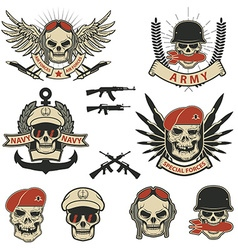set special forces labels vector image