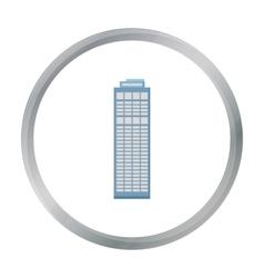 Skyscraper icon cartoon Single building icon from vector