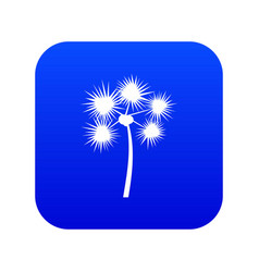 Spiny tropical palm tree icon digital blue vector