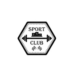 sport club logo in vintage style vector image
