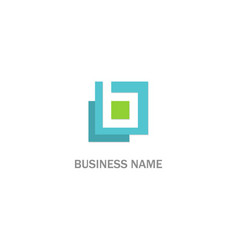 square shape abstract company logo vector image