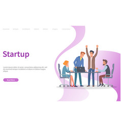 startup conference with new ideas announcement vector image
