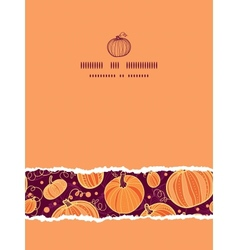 thanksgiving pumpkins vertical torn seamless vector image