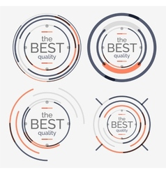 Thin line neat design logo set premium quality vector image