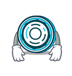 Tired aion coin mascot cartoon vector