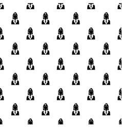 Train conductor pattern seamless vector