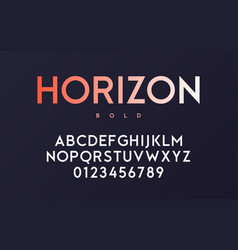 trendy minimal sans serif bold font design vector image