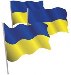 ukraine 3d flag vector image