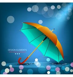 Umbrella on a blue background vector