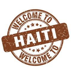 Welcome to haiti vector