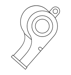 Whistle icon outline style vector image