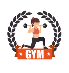 woman athlete avatar icon vector image
