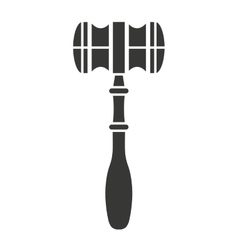 wooden gavel isolated icon design vector image