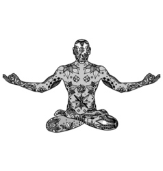 Yoga lotus pose vector image