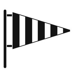 Meteorology windsock icon simple black style vector
