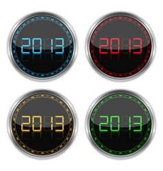 Round badges with number 2013 vector image