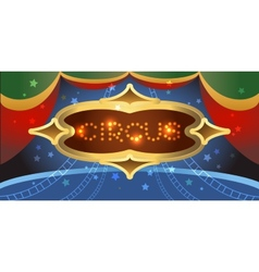 Shining circus poster vector image
