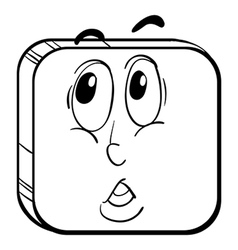 A face in a square vector image