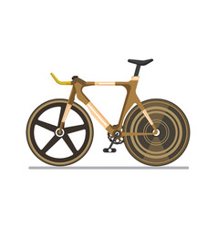 brown professional sport bike vector image
