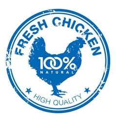 Chicken stamp vector image vector image
