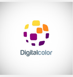 digital color square logo vector image