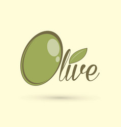 olive text design graphic vector image