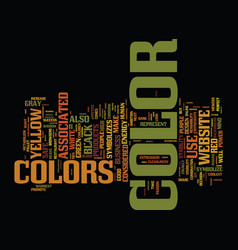 The color of success text background word cloud vector
