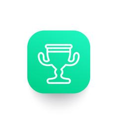 trophy cup line icon reward symbol vector image vector image