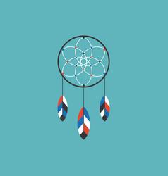 dream catcher of native american icon vector image vector image