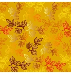 Leaves pattern background vector image vector image
