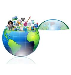 multimedia world vector image
