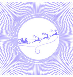 silhouette christmas day 5 vector image