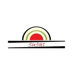 sushi sign vector image