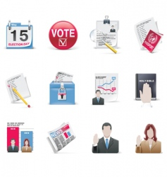 voting and election icon set vector image vector image