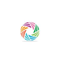 abstract circle shape colorful logo vector image