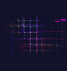 Abstract geometric background with connecting dots vector