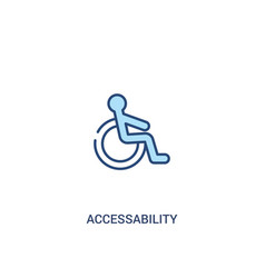 accessability concept 2 colored icon simple line vector image