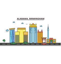 alabama birminghamcity skyline architecture vector image