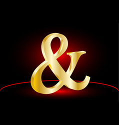 ampersand icon vector image