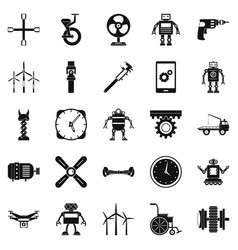 apparatus icons set simple style vector image
