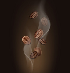 aromatic coffee beans in vector image