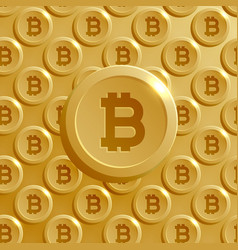 background made with bitcoins pattern vector image