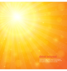 Background with shiny sunbeams vector image