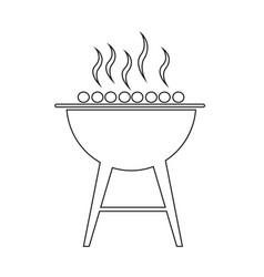bbq icon design vector image
