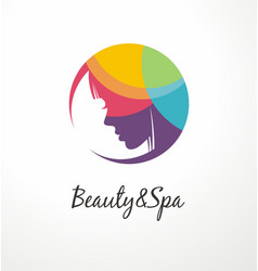 beauty and spa colorful logo design template vector image